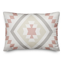 Blush Aztec Accent Pillow