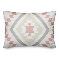 Blush Aztec Accent Pillow