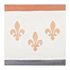 Fleur-de-lis Trio Wood Art Print