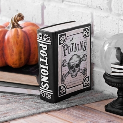 Black and White Halloween Potions Book