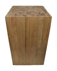 Rustic Square Wooden Stool