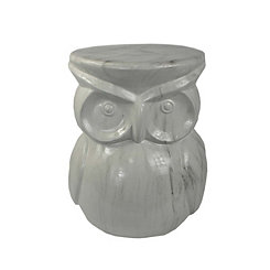 Marble Owl Garden Stool