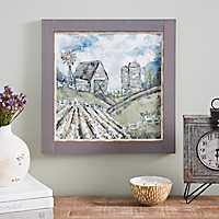 Cotton Field Framed Art Print