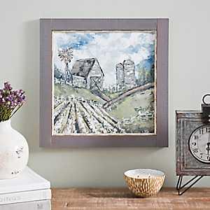 Cotton Field Framed Art Print