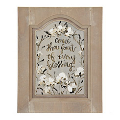 Every Blessing Cotton Framed Art Print
