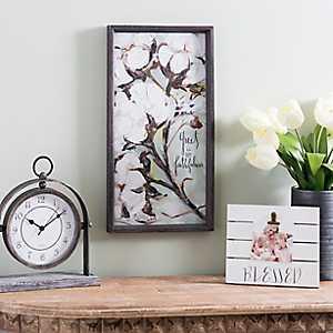 Faithfulness Cotton Stem Framed Art Print