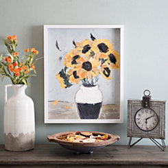 Golden Sunflowers Framed Art Print