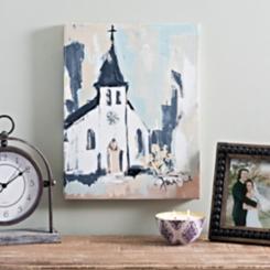 Cool Tone Church Canvas Art Print