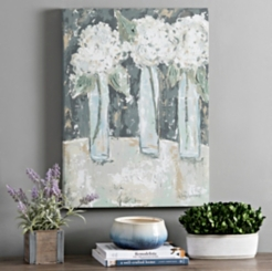 Hydrangea Vase Trio Canvas Art Print