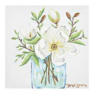 Magnolia Arrangement Canvas Art Print