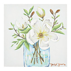 Magnolia Arrangement Canvas Art Print