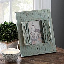 Church with Barn Doors Framed Art Print