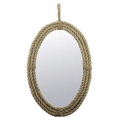 Oval Rope Mirror with Loop Hanger