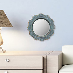 Metal Lace Turquoise Wall Mirror