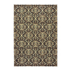 Raleigh Distressed Lattice Area Rug, 5x7