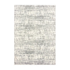 Gray Distressed Shag Area Rug, 5x7
