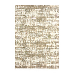 Tan Distressed Shag Area Rug, 5x7