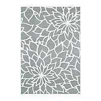 Verona Gray Floral Area Rug, 5x7