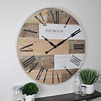 Reclaimed Wood Planks Wall Clock