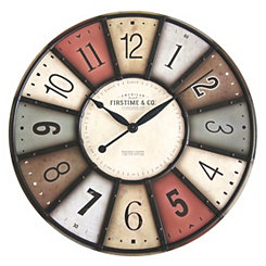 Color Motif Wall Clock