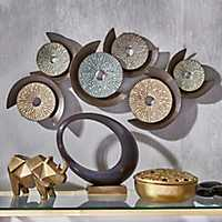 Circular Metal Multi Finish Wall Plaque