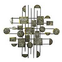 Metal Abstract Gray Wall Plaque