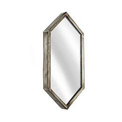 Metal Silver Hexagonal Wall Mirror