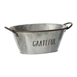 Rae Dunn Galvanized Grateful Bucket