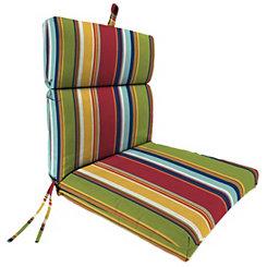 Garden Red Stripe Outdoor Dining Chair Cushion
