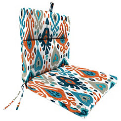 Paso Azure Ikat Chaise Outdoor Lounge Cushion