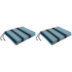 Bonfire Stripe Outdoor Seat Cushions, Set of 2