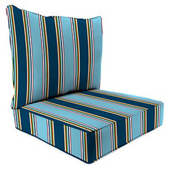 Bonfire Stripe 2-pc. Outdoor Chair Cushion Set