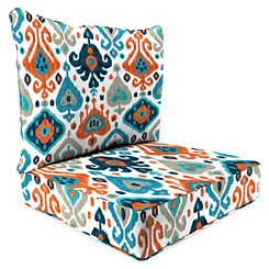Paso Azure Ikat 2-pc. Outdoor Chair Cushion Set