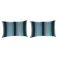 Bonfire Stripe Outdoor Accent Pillows, Set of 2