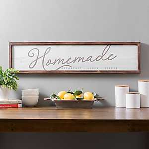 White and Wood Homemade Kitchen Wall Plaque