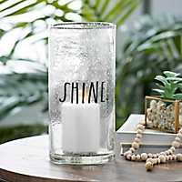 Rae Dunn Seeded Glass Shine Hurricane, 10 in.