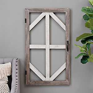 Two-Tone Door Frame Wood Wall Plaque
