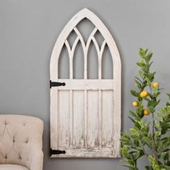 Distressed White Stable Door Wood Plaque