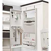 Craft White Over Door 2-Drawer Corkboard Cabinet