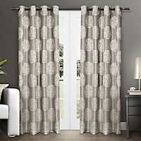 Natural Akola Medallion Curtain Panel Set, 108 in.