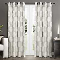 Dove Gray Medallion Curtain Panel Set, 108 in.