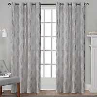 Silver Metallic Curtain Panel Set, 108 in.