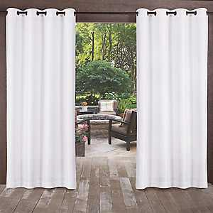Biscayne Winter White Curtain Panel Set, 84 in.