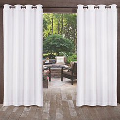 Biscayne Winter White Curtain Panel Set 84 In