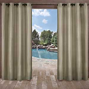 Biscayne Natural Curtain Panel Set, 84 in.