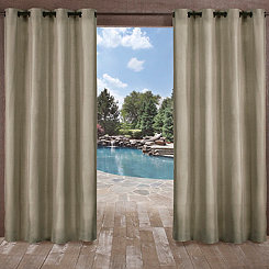 Biscayne Natural Curtain Panel Set 108 In