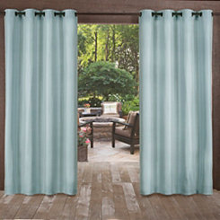 Biscayne Pool Blue Curtain Panel Set, 84 in.