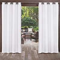Biscayne Winter White Curtain Panel Set, 96 in.
