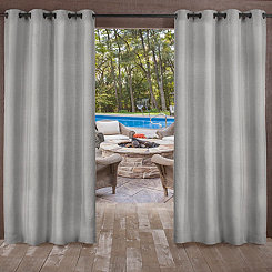 Biscayne Silver Curtain Panel Set, 96 in.