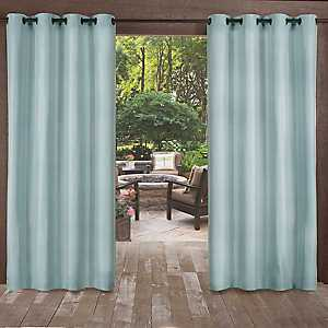 Biscayne Pool Blue Curtain Panel Set, 96 in.